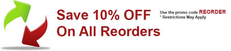 SAve 10% OFF Reorders
